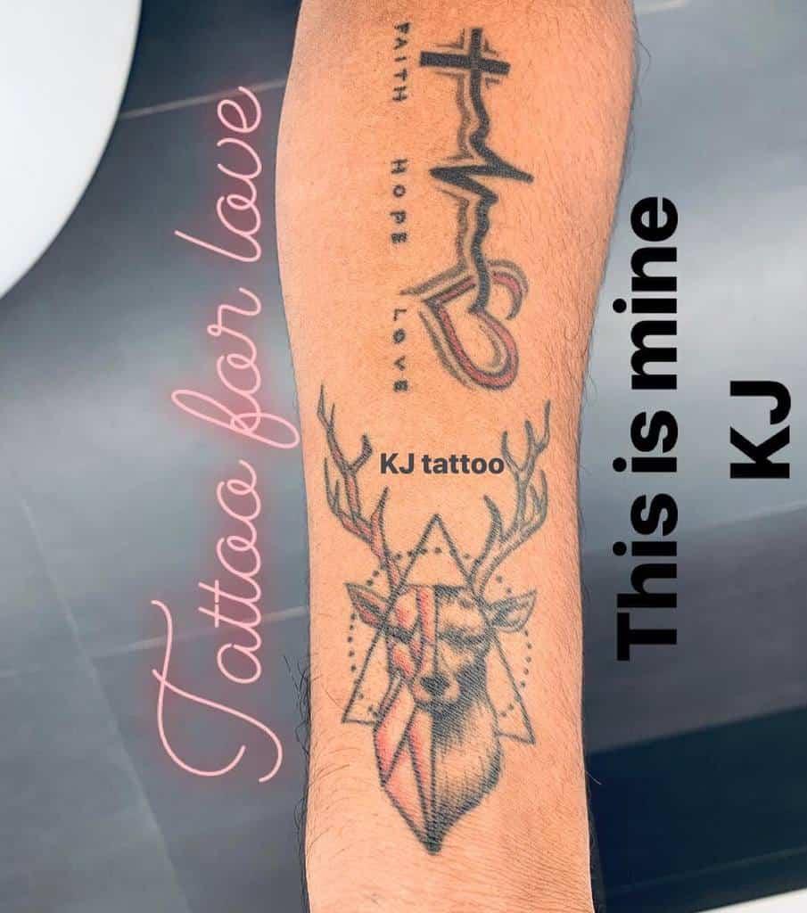forearm faith hope love tattoos kiranjamesofficial