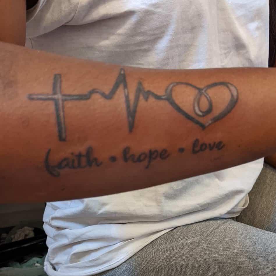 forearm faith hope love tattoos zebtattoos