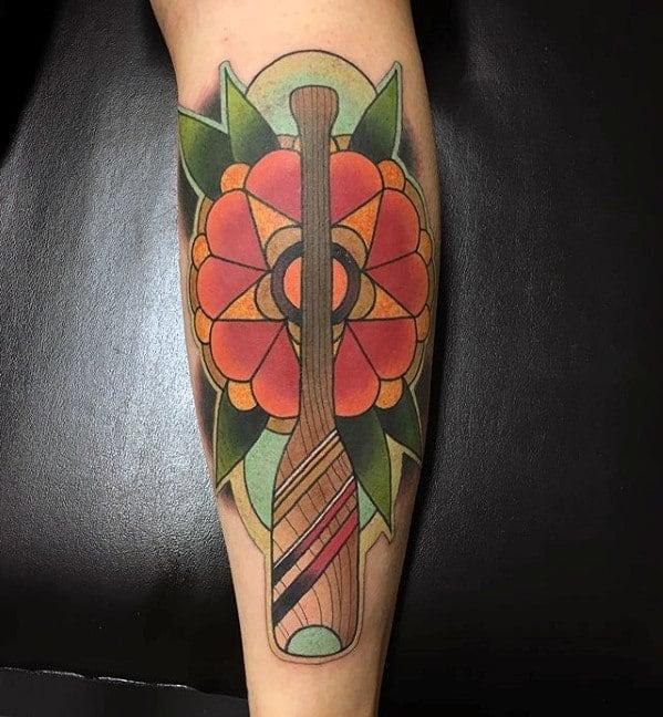 Forearm Flower Canoe Tattoos For Gentlemen