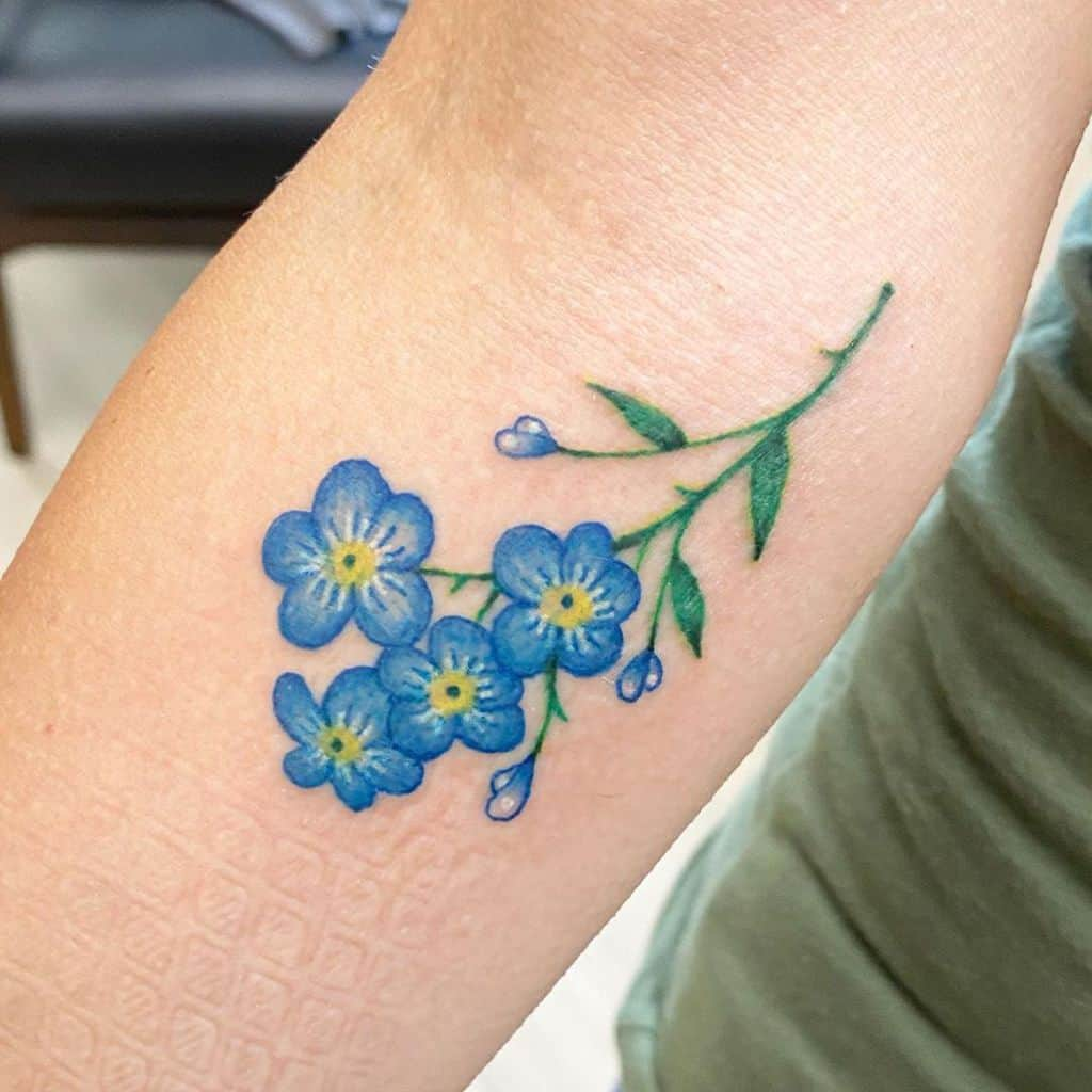 forearm forget me not tattoos bs_ink007