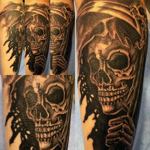 Forearm Grim Reaper Tattoo Ideas For Guys
