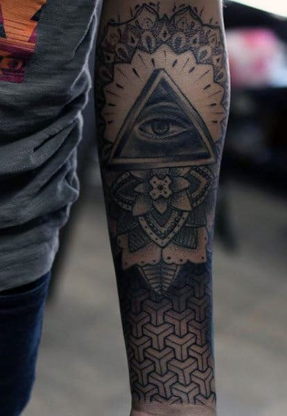 Forearm Guys Art Geometric Tattoo
