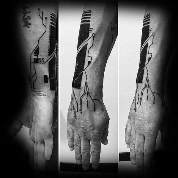 Forearm Guys Computer Tattoo Designs