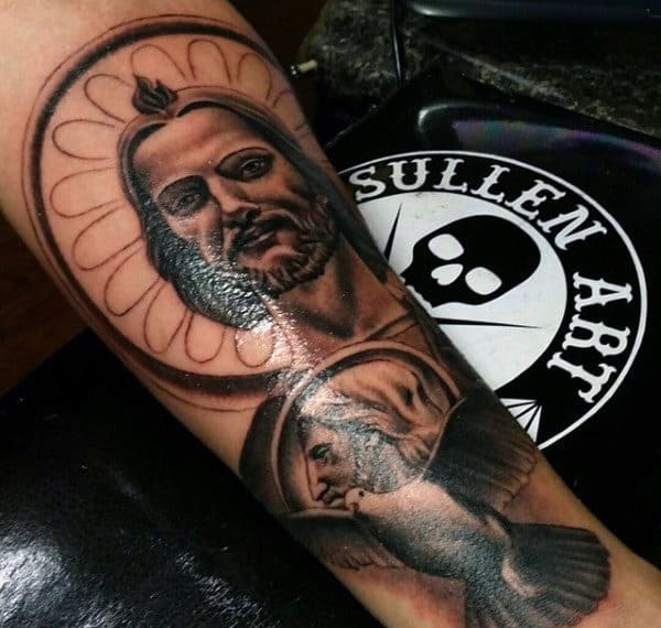 Forearm Guys Dove Bird Tattoo