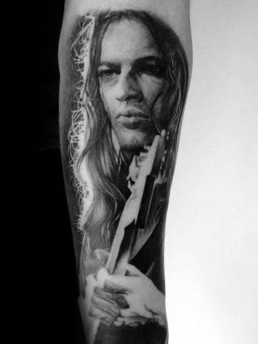 Forearm Guys Portrait Tattoo Design Idea Inspiration