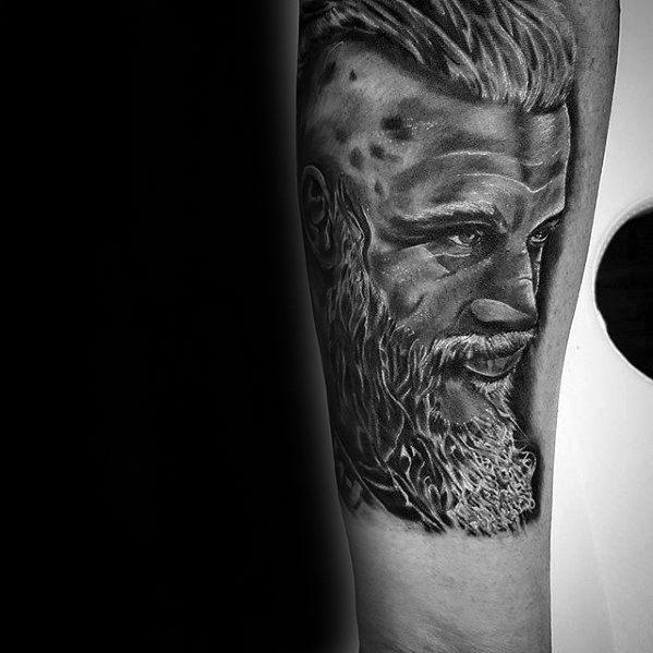 Forearm Guys Ragnar Tattoo Deisgns