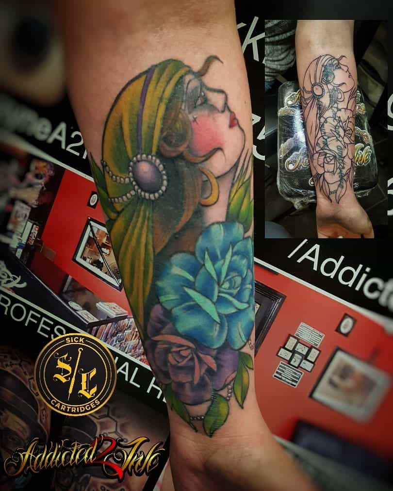 forearm gypsy rose tattoos addicted2ink_n i