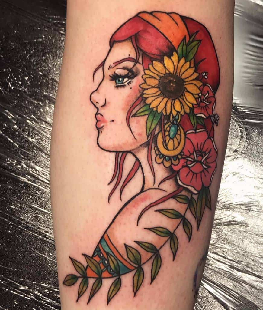 forearm gypsy rose tattoos maddierobertstattoo