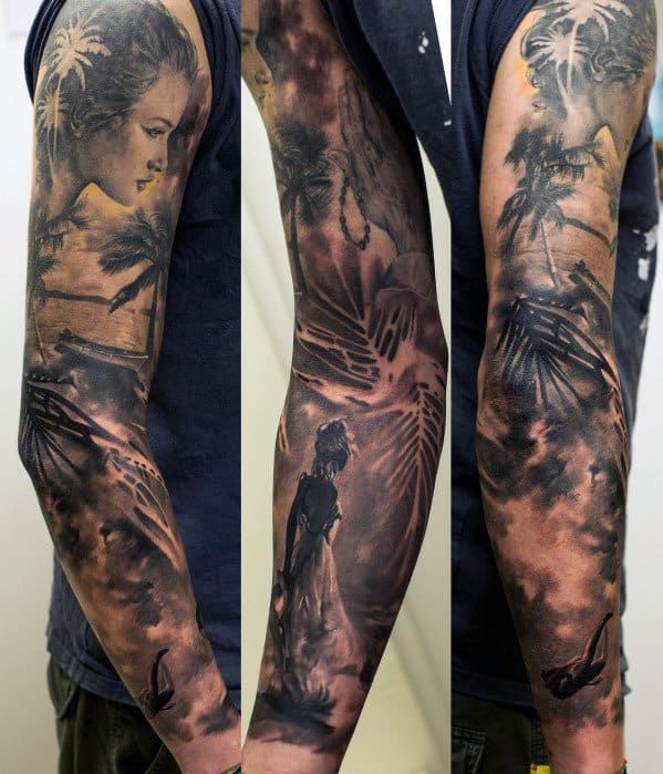 Top 100 best sleeve tattoos for men cool designs and ideas for Forearm tattoo sleeves