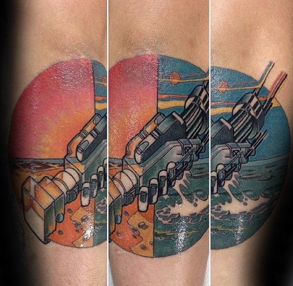 Forearm Handshake From Album Record Cover Pink Floyd Male Tattoo Ideas