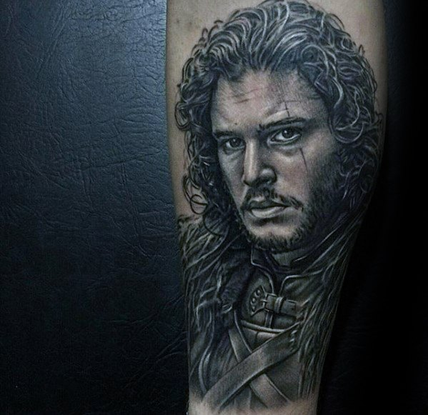 Forearm Jon Snow Portrait Game Of Thrones Male Tattoos