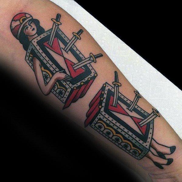 Forearm Magician Mens Tattoo Designs