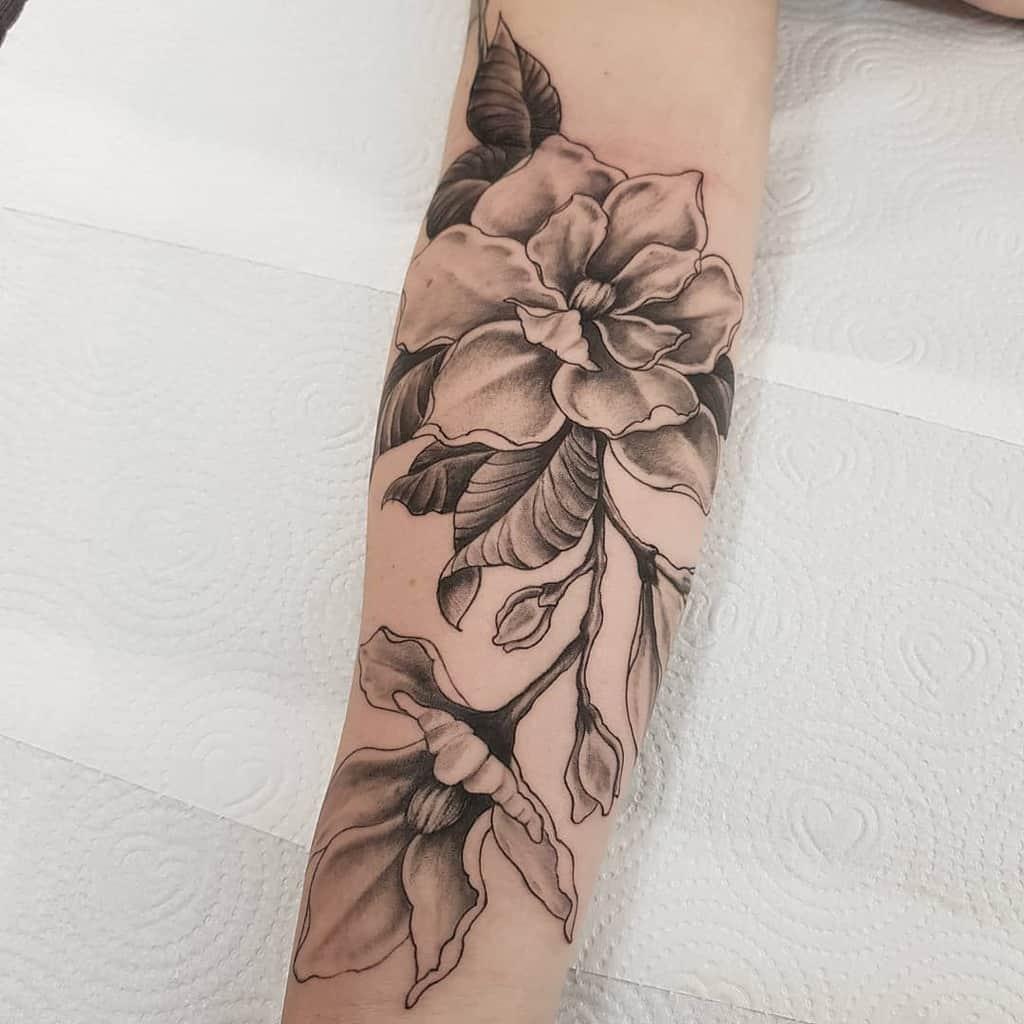 forearm magnolia tattoos fe.tattoo