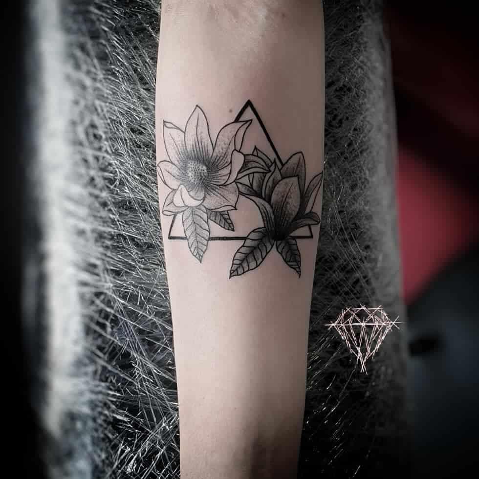 forearm magnolia tattoos inkarnedav