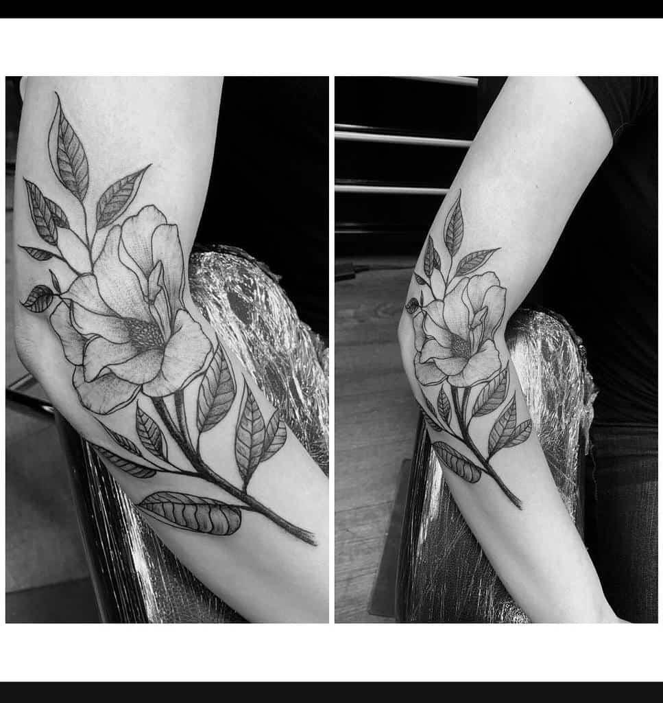 forearm magnolia tattoos reggietherascal13