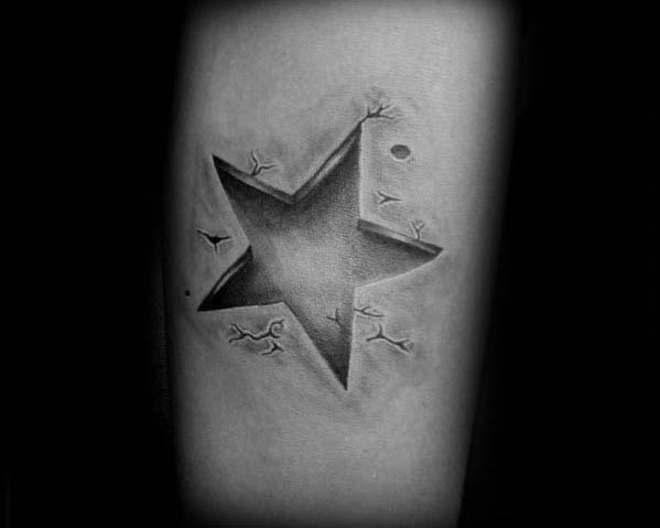 Forearm Male Cool 3d Star Tattoo Ideas
