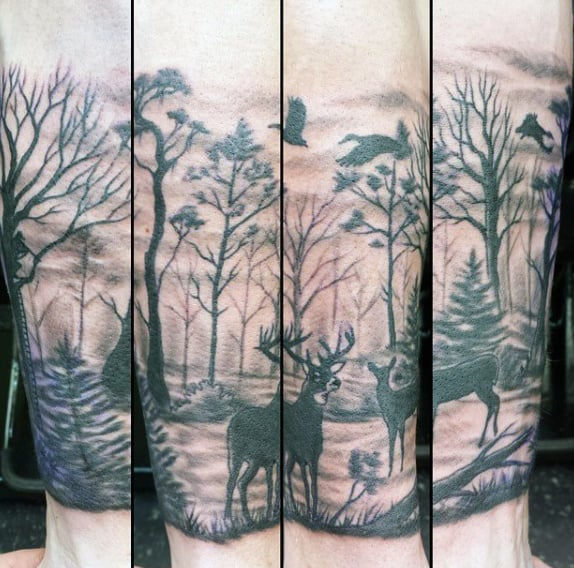 Forearm Male Goose Hunting Tattoos