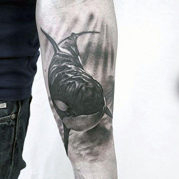 Forearm Male Orca Tattoo Ideas