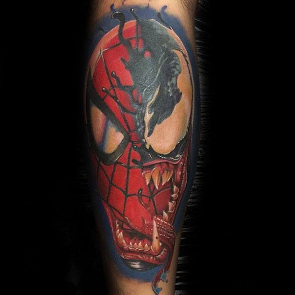60 venom tattoo designs for men marvel ink ideas. Black Bedroom Furniture Sets. Home Design Ideas
