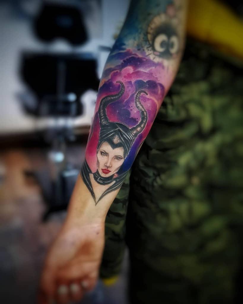 Forearm Maleficent Tattoos Thinktattoosofia