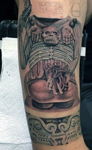 Aztec Warrior Tattoo Forearm