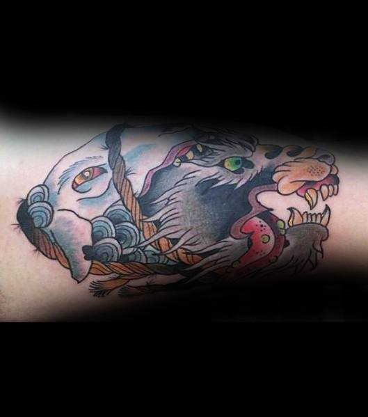 Forearm Manly Wolf In Sheeps Clothing Tattoo Design Ideas For Men