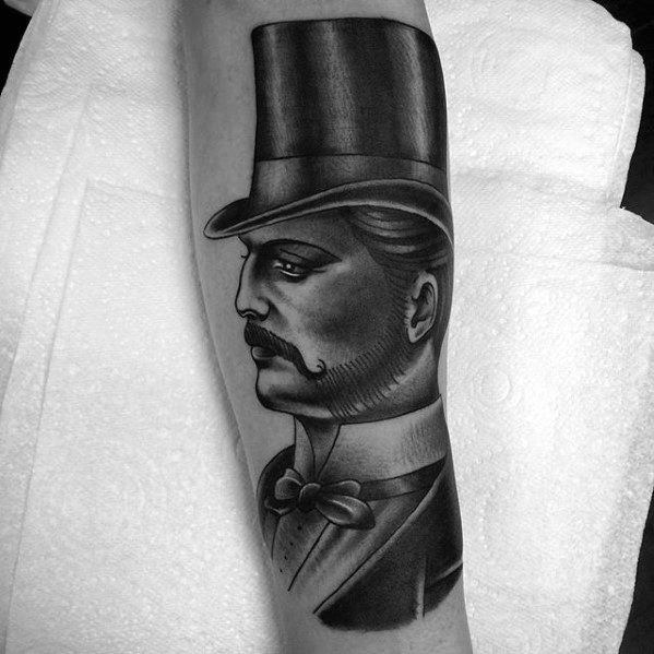 40 Top Hat Tattoo Designs For Men Topper Ink Ideas