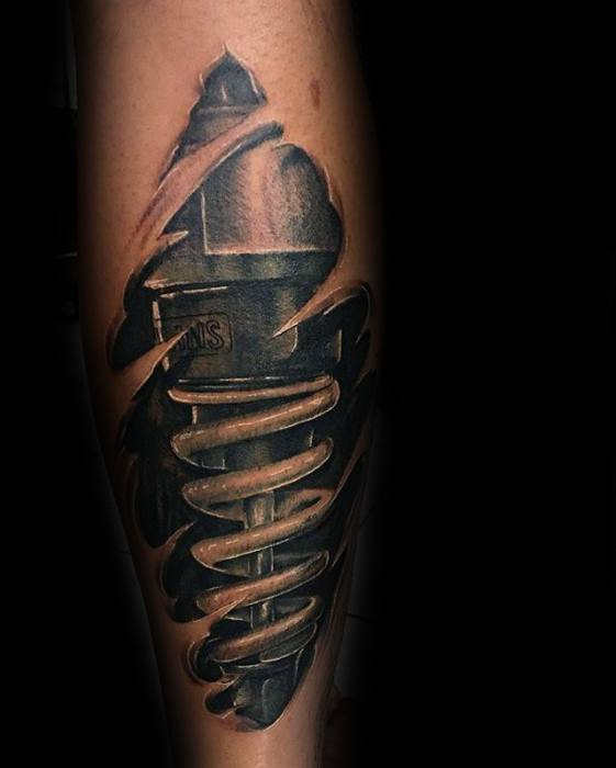 Forearm Mens Suspension Tattoo Ideas