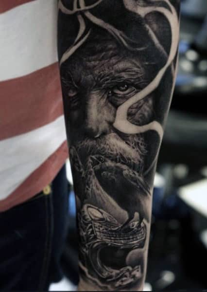 Forearm Men's Viking Dragon Tattoo