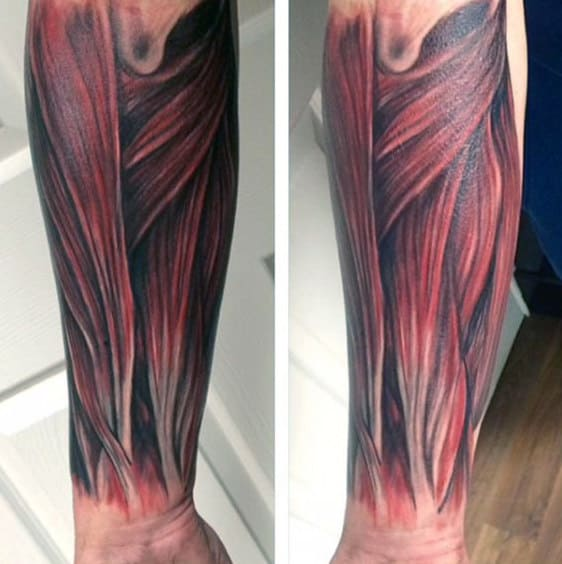 Forearm Muscle Sleeve Tattoos For Guys