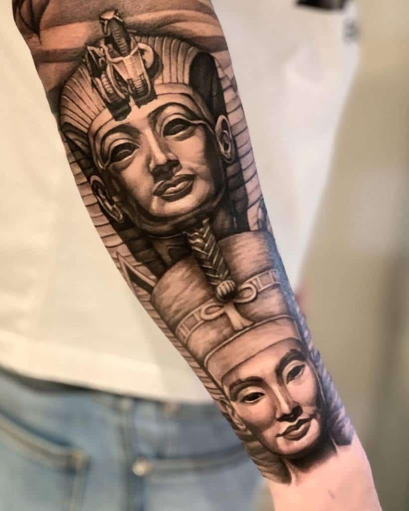Forearm Nefertiti Tattoos Chris Chronicink