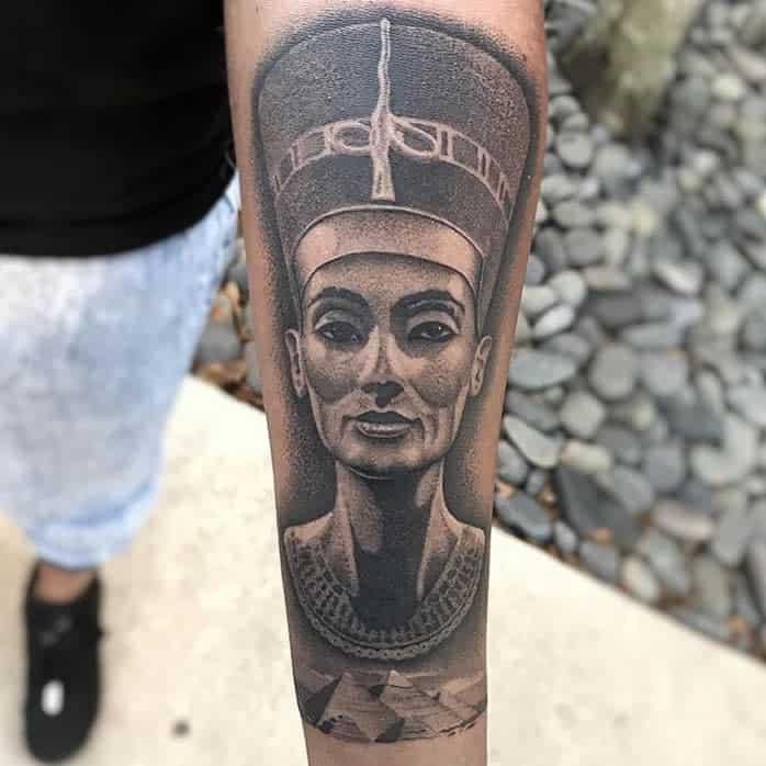 Forearm Nefertiti Tattoos Mattbtattoos