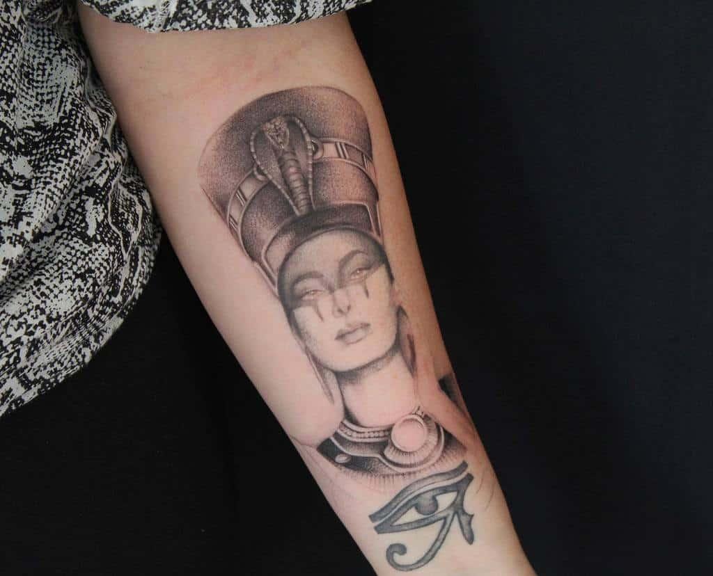 Forearm Nefertiti Tattoos Tommymichel Tattoo
