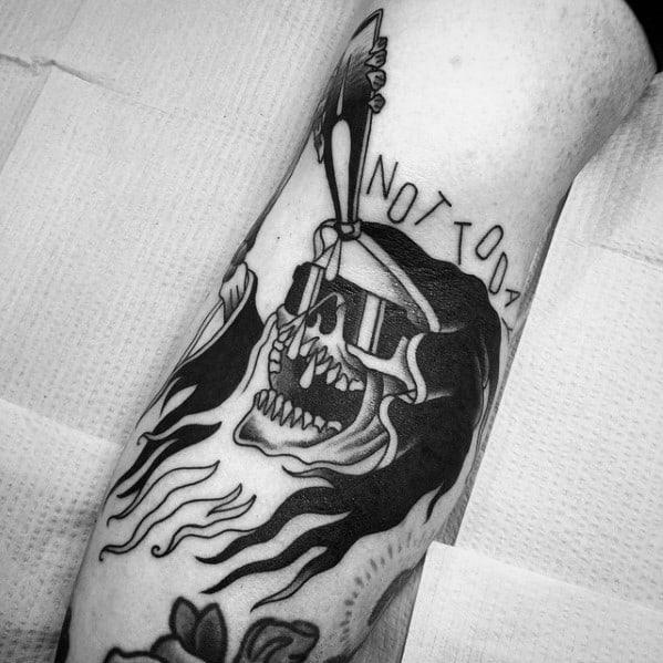 50 traditional reaper tattoo designs for men grim ink ideas. Black Bedroom Furniture Sets. Home Design Ideas