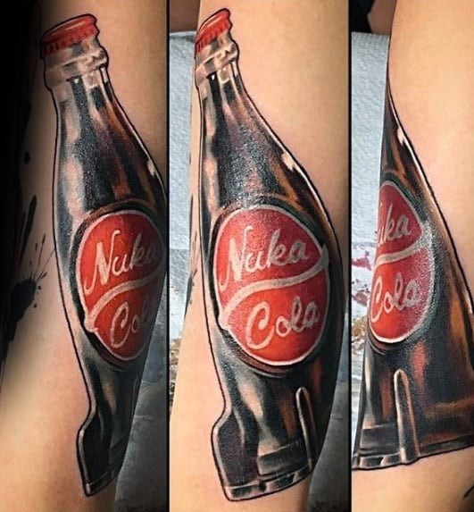 Forearm Nuka Cola Fallout Tattoo On Men