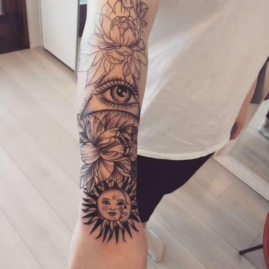 eye-flower-sun-moon-tattoo-sillanpaa.minna