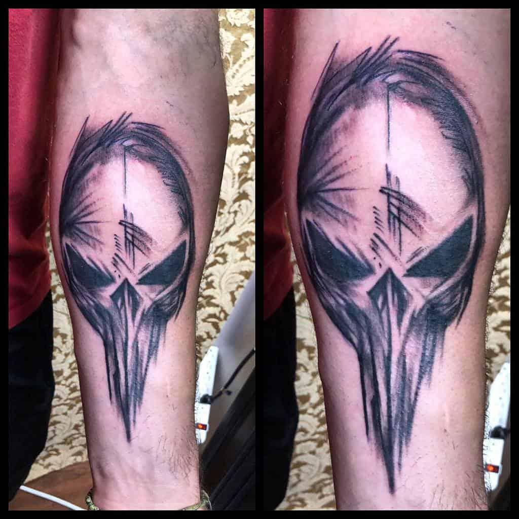 forearm punisher skull tattoo anthonygtattoos