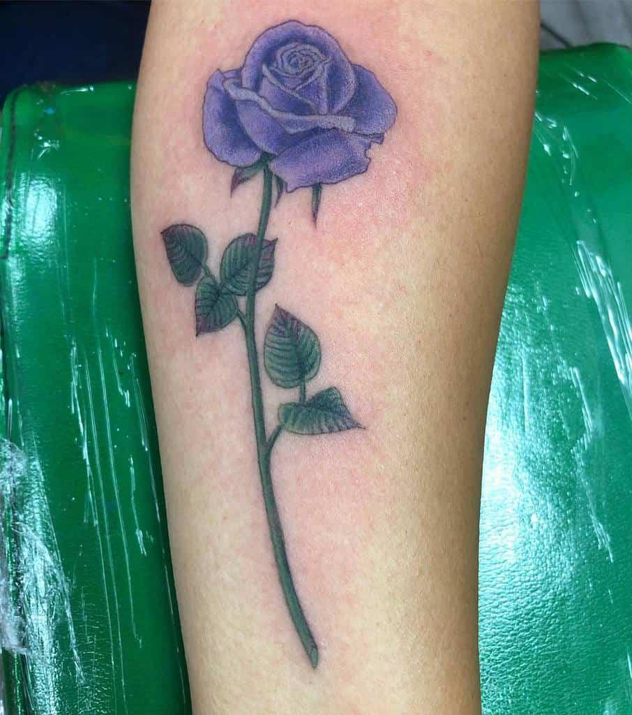 forearm purple rose tattoos karelbecktattoos