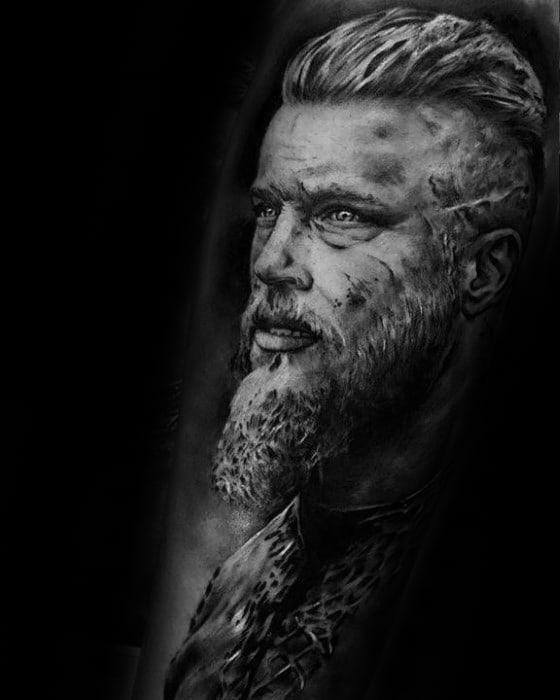 Forearm Ragnar Tattoos Men
