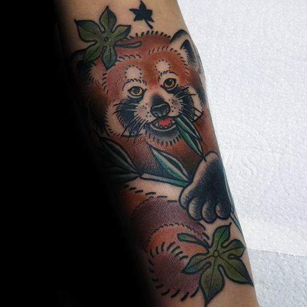 50 I Want To Believe Tattoo Designs For Men: 60 Red Panda Tattoo Designs For Men