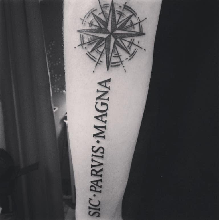 Forearm Sic Parvis Magna Tattoos Ale Camici