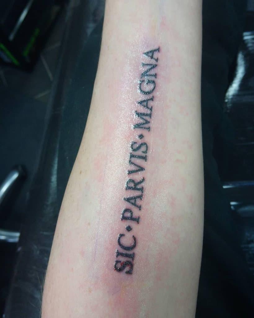 Forearm Sic Parvis Magna Tattoos Markjason92