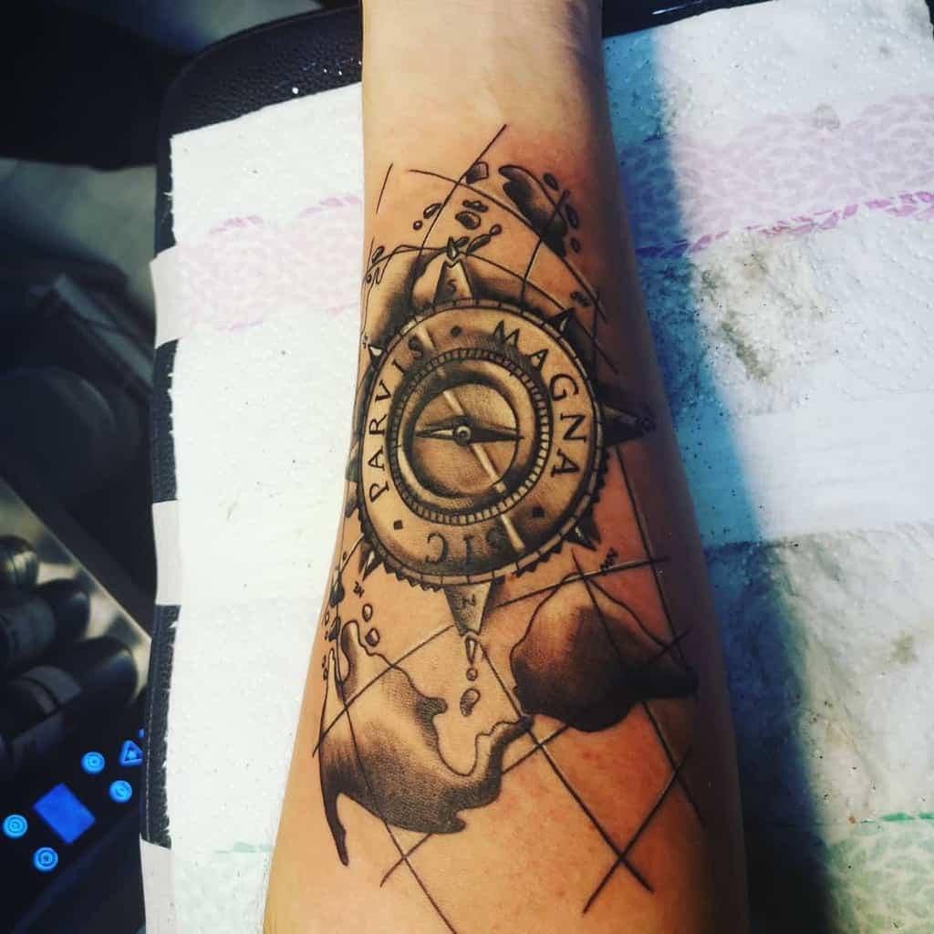 Forearm Sic Parvis Magna Tattoos Martin Hudo
