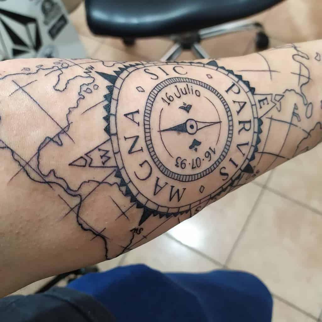 Forearm Sic Parvis Magna Tattoos Reendenam