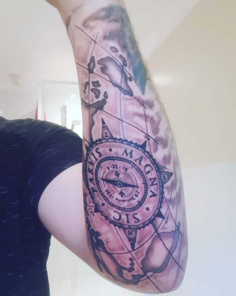 Forearm Sic Parvis Magna Tattoos Sir Russen