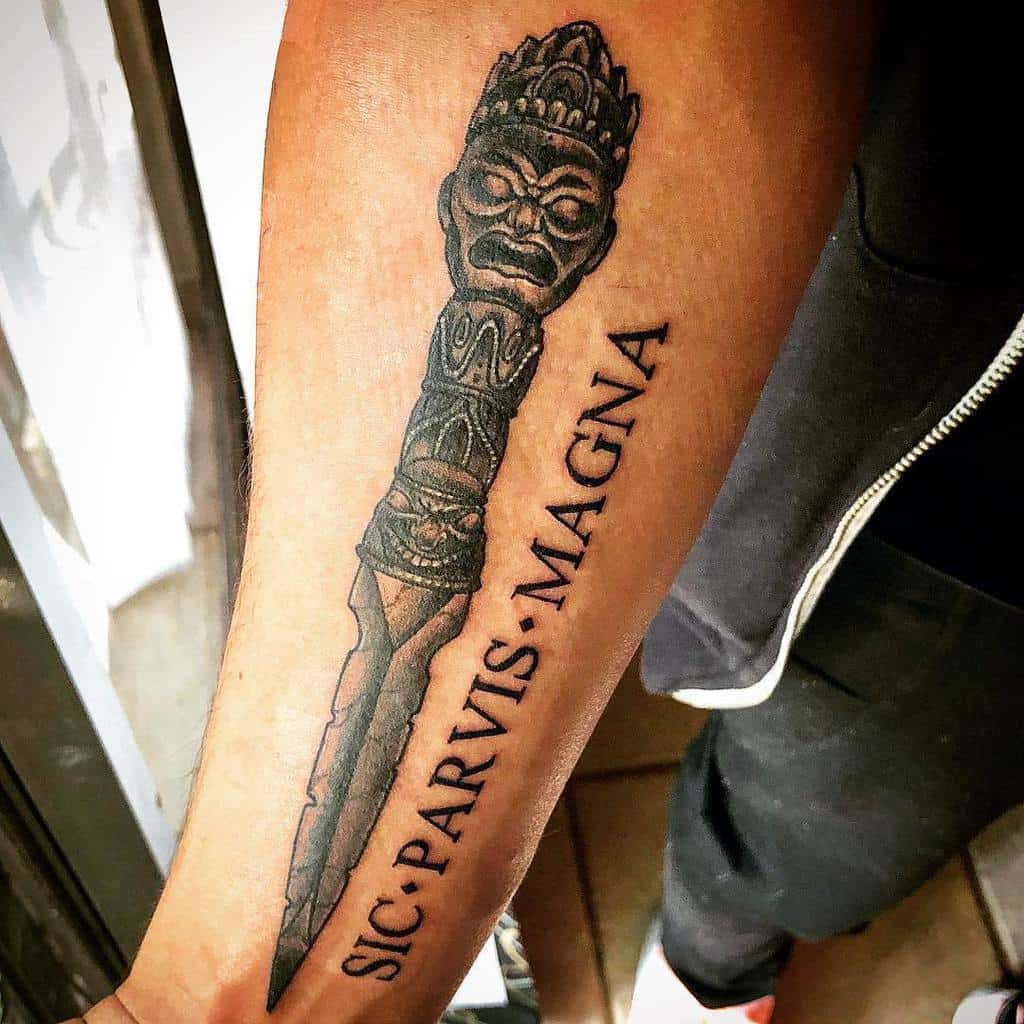 Forearm Sic Parvis Magna Tattoos Soulful Ideology