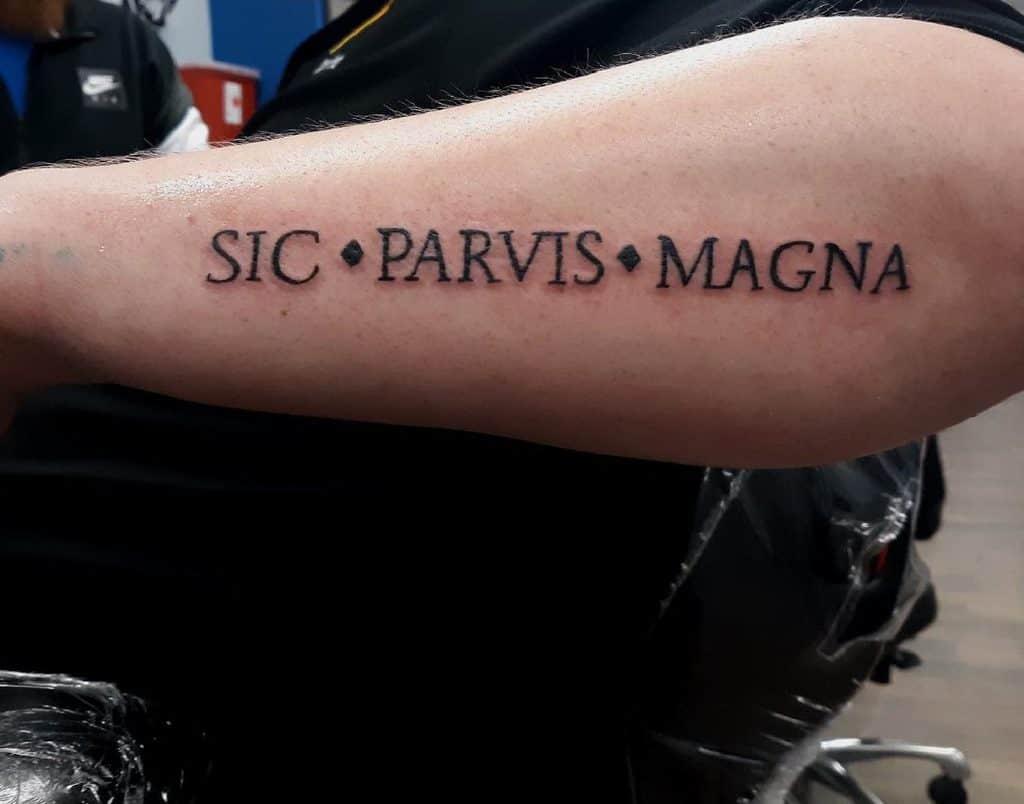 Forearm Sic Parvis Magna Tattoos Tattoosbytashana
