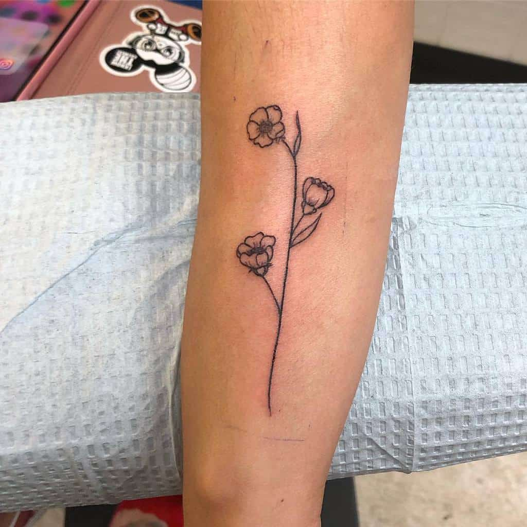 forearm simple flower tattoos mollsfreeman