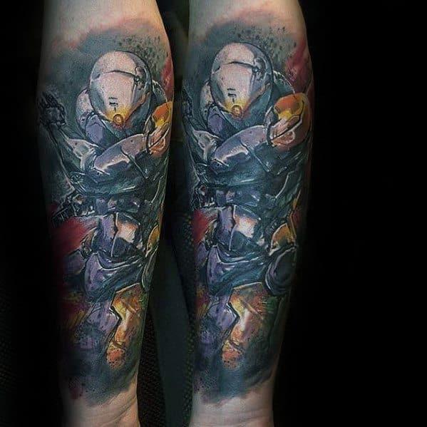 50 Metal Gear Tattoo Designs For Men Gaming Ink Ideas