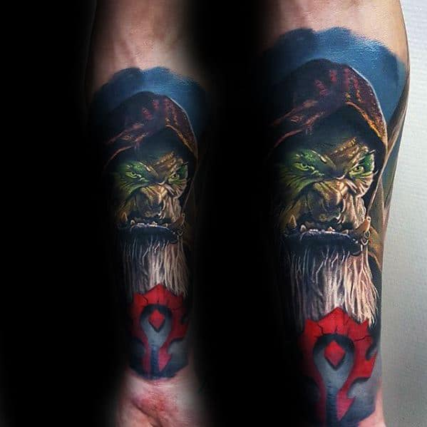 Forearm Sleeve 3d Realistic Gamer Tattoo Designs For Males